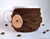 Knit Coffee Cozy, Coffee Cup Sleeve, Tea Cozy, Coffee Mug Cozy, Coffee Cup Cozy, Cup Warmer, Gifts Under 20, Chunky Knit