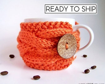 Coffee Cup Sleeve, Coffee Cup Cozy, Coffee Mug Cozy, Coffee Sleeve, Tea Cozy, Knit Coffee Cozy Tea Cosy Best Selling Items Most Popular Item
