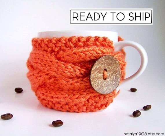 Coffee Mug Cozy, Coffee Sleeve, Tea Cozy, Coffee Cup Cozy, Knit Cup Cozy, Knit Coffee Cozy, Coffee Cup Sleeve, Tea Cosy, Gifts Under 20