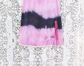 Medium/LargeTie Dye Skirt/Black and Pink black shibori Skirt/Vintage Skirt/Hippie Skirt/Tie Dye Skirt/Upcycled Skirt/French Fairy Pink