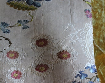 18th c silk brocade
