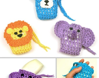 Animal Soap Savers - PDF Crochet Pattern - Instant Download