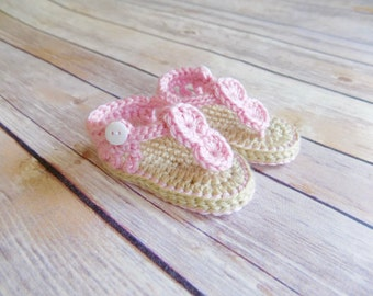 Baby Sandals, Crochet Baby Shoes, Summer Baby Shoes, Photography Prop