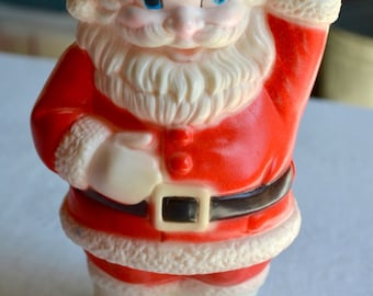 Vintage Santa Claus Rubber Squeak Toy - Sanitoy 8 inch