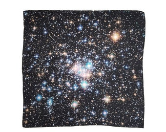 Star Cluster Galaxy Silk Handkerchief