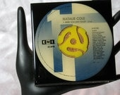 Natalie Cole - Very Cool Drink Coaster Made with The Original 45 rpm Record