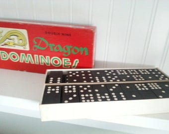 Dragon Black Wooden Dominoes