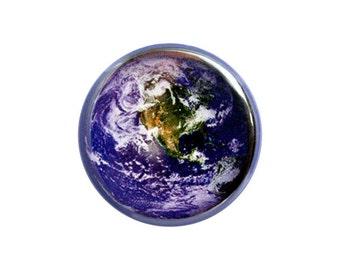 """The Earth Button, Earth Pin, 1.25"""" Button, Earth Badge, The World - E5-2"""