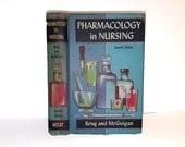 Hollow Book Safe Pharmacology in Nursing Cloth Bound vintage Secret Compartment Keepsake Box Hidden Security Box