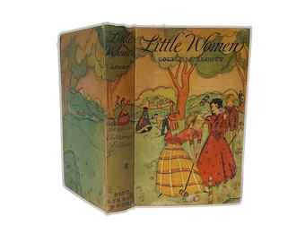 Hollow Book Safe Little Women Louisa May Alcott Cloth Bound vintage Secret Compartment Security hiding place