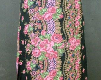 Vintage Floral Skirt, Betsey Johnson, 1990s