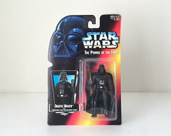 1995 Star Wars Darth Vader Figure - Kenner Kids Toy / Action Figure - Evil Sith Lord Anakin Skywalker with Red Lightsaber - Ready to Gift