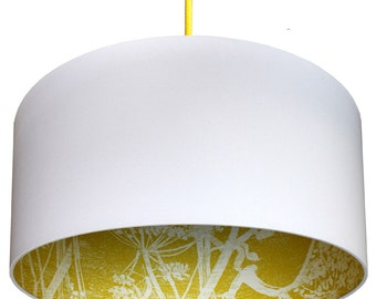 Cole & Son Cow Parsley Silhouette Lampshade in Mustard