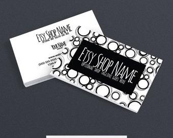 30% OFF SALE Business Card Designs - 2 Sided Printable Business Card Design - Black and White Business Card Designs -  Black 1-16