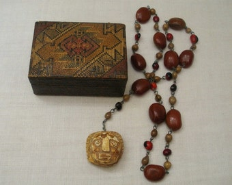 Vintage Italy Voodoo Amulet Necklace