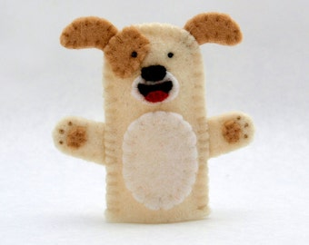 Dog, dog puppet, dog finger puppet, finger puppet, felt puppet, felt finger puppet, puppet, dog felt puppet, felt puppet, felt, farm puppet
