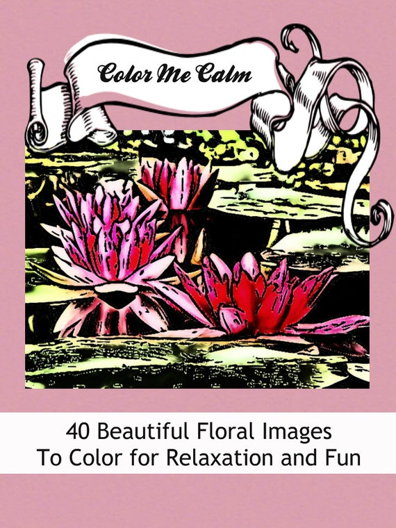 Color Me Calm 40 Beautiful Floral Patterns Coloring Book For