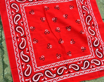 Vintage Fast Color Red Bandana Kerchief