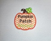 Free Shipping Ready to Ship   .   PUMPKIN Patch Princess Machine  Embroidery     Iron on applique