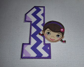 Free Shipping   Ready To Ship  Princess Number1  Fabric Iron on applique