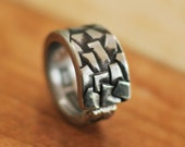 Giants Causeway Irish Spoon Ring, Stainless Steel, Nearly Any Size, Custom Stamping or Engraving Available