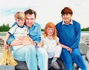 Custom Portrait, Family Portrait, Watercolor*CONVO FOR AVAILABILITY*  Newborn Child Portrait Baby Portrait Mothers Day Gift Fathers Day Gift