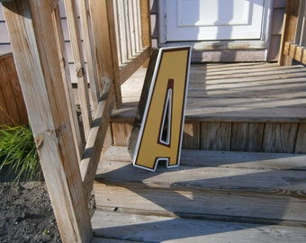 Metal Wall Letter - A - Industrial Salvage - Reclaimed Vintage - Advertising - Channel Letter