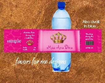20 Royal Diva Water Bottle Wrappers