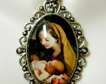 Madonna and child necklace - AP26-200