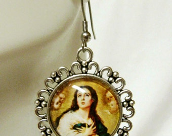 Immaculate conception of Mary earrings - AP06-111