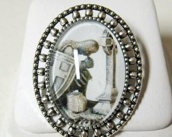 Knight templar in prayer brooch/pin - AP02-008