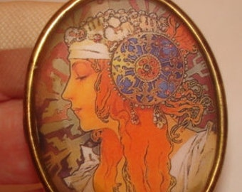 Lady  Mucha Brooch KL Design
