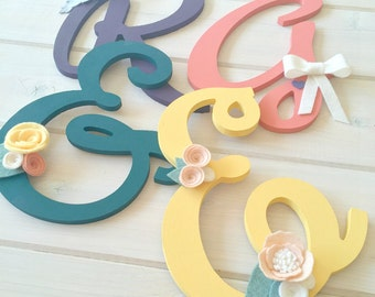Personalized Customized Wooden Initial Monogram // Wall Decoration