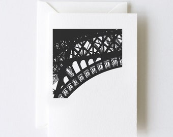 Eiffel Detail Greeting Cards - Set of 5 Note Cards