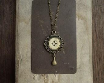 Antique Bone Button Necklace - Marauder's Medal