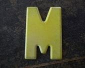 Vintage Letter M Steel Marquee Sign Metal Letter Signage -5-
