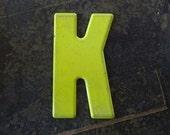 MARQUEE Letter K Vintage Steel Metal Letter Signage -2-