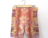 Psychedelic Ice-Dyed Bike Shorts - Size Large - L - Watercolor Vibes