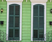 "New Orleans Photograph ""Green Creole Cottage"". Door Photography, Wall Art, Home Decor Mardi Gras French Quarter Shutters 8x10, 11x14, 16x20+"