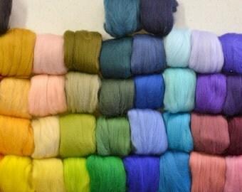 24 Micron Wool Roving - 10 gram bags (0.35 oz)