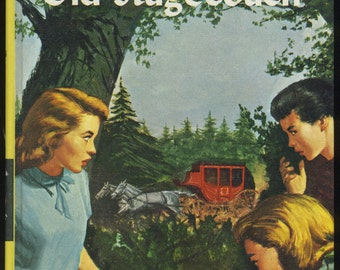 Vintage Nancy Drew The Clue in the Old Stagecoach, Carolyn Keene, Mystery Book, Girl Detective Series, 1960s