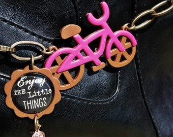 Pretty Pink Bike Boot Candee Boot Bracelet