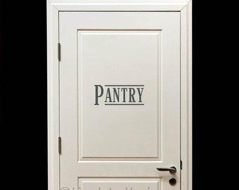 Pantry decal, Pantry door decal, Pantry wall decal, kitchen wall decal, kitchen wall decor, kitchen wall decor, kitchen wall art LL1172
