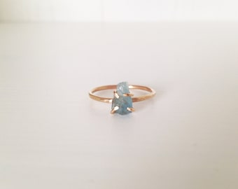 Gold-Filled & Aquamarine Ring (Made to Order)