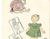 DU BARRY 2738B Size 6 Mos Infant Baby Girl Dress Coat Bonnet Vintage 1940's Pattern