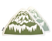 mountain plush, mountain pillow, cabin decor, the mountains are calling, triangle plush, triangle pillow, mountain pillow, organic pillow