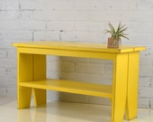 Wooden Bench in Color of Your Choice - SHIPPING INCLUDED in Price - Indoor Cottage Seating Schoolhouse Wood Bench Seat - Handmade Bench