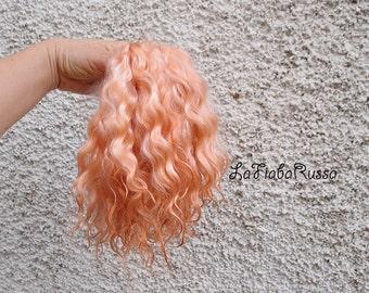 Combed Mohair locks rust orange Doll Hair extra long 9-11 in for doll hair reroot/ Reborn/ BJD, Art Dolls, spinning and felt