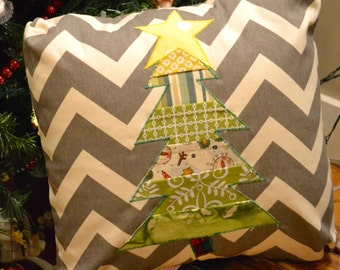 "Christmas Tree Pillow Cover 18""x18"""