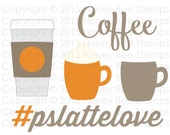 Digital SVG Print and Cut File - Pumpkin Spice Latte - Coffee Love - Instant Digital Download! PSL - Pumpkin Spice Everything